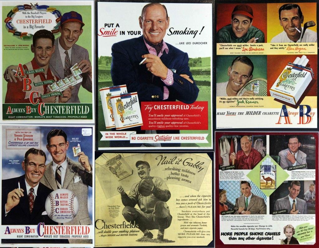 23: (8) Cigarette Ads Featuring Baseball Players