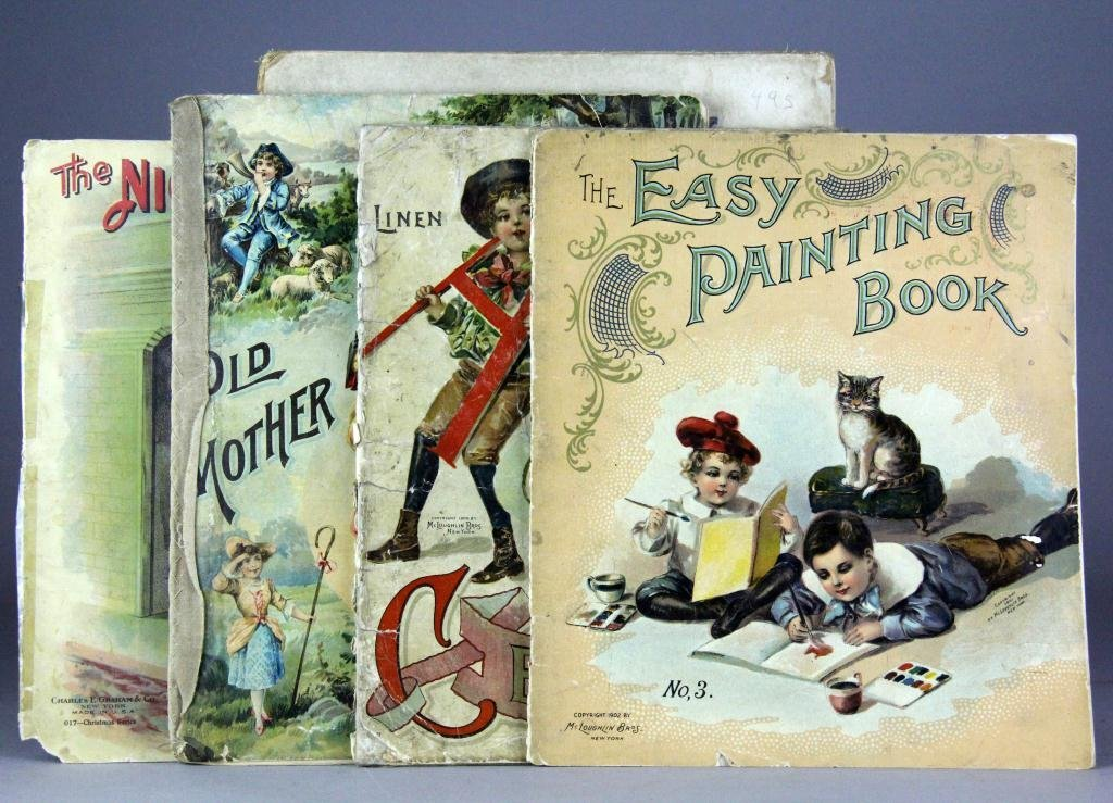 150: (6) Early 20 C. Childrens Linen Illustrated Books