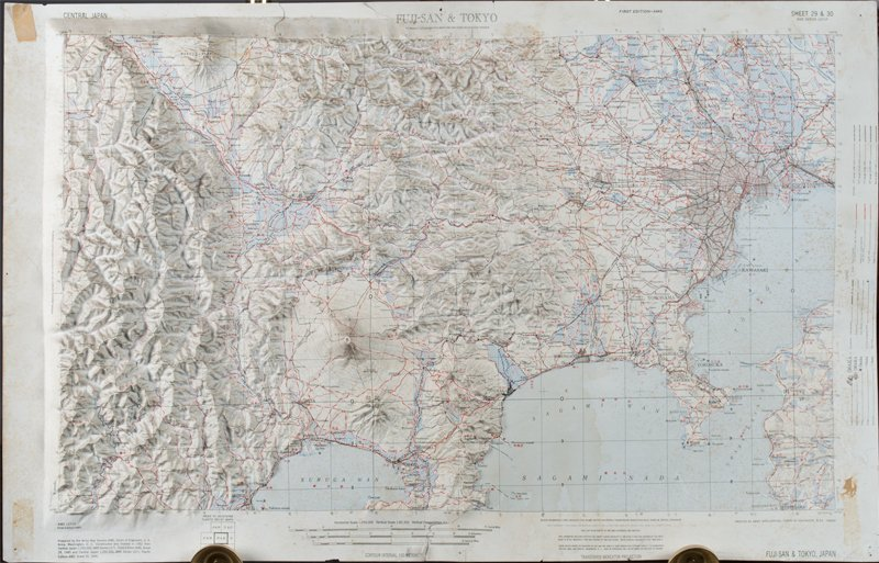 22A: Map of Fuji-San & Tokyo, Dated 1952