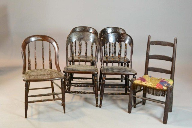 5: (6) CHAIRS VARIETY OF STYLES