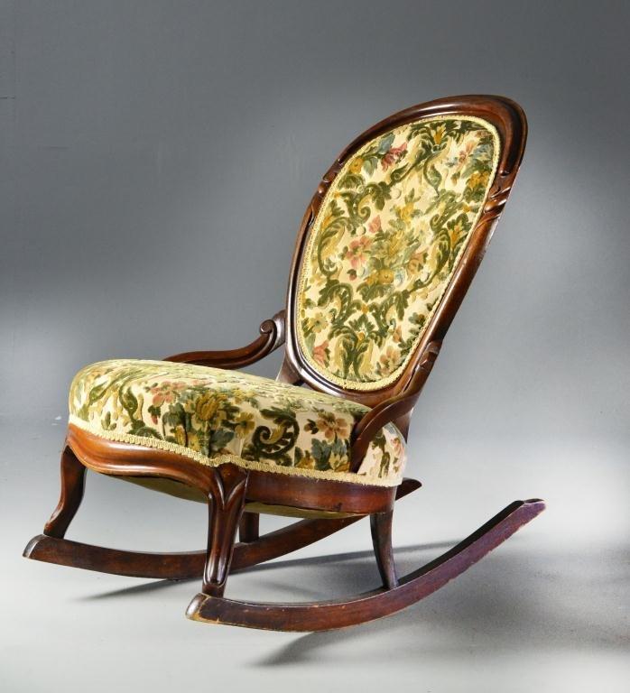 6: An American Antique Fireside Rocking Chair