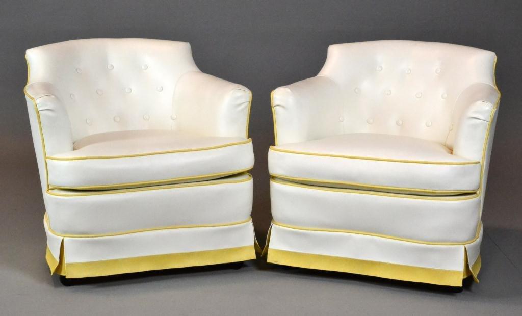 23: Pr Mid Century Hollywood Regency Club Chairs