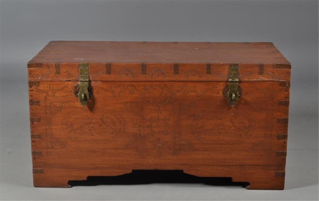 24: Exceptional Indian Decorated Trunk