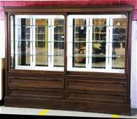 30: Antique General Store Display Cabinet