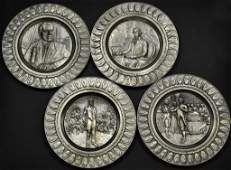 47 4 Pewter Presidential Commemorative Plates