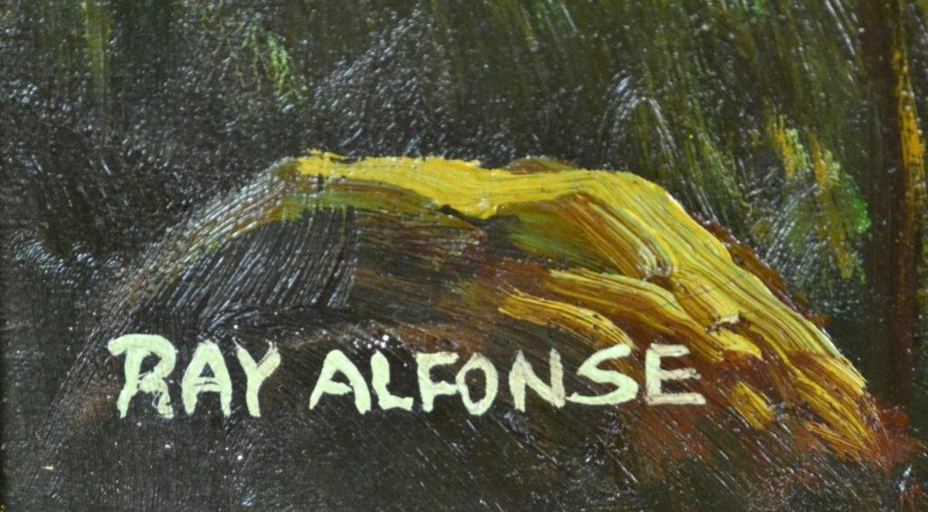 255: Ray Alfonse Oil Painting On Canvas - 3