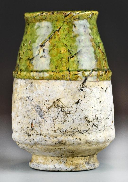 1: A Stoneware Jar-Style Of Toshiko Takaezu