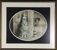 229: 1929 Louis Icart Color Copper Plate Engraving