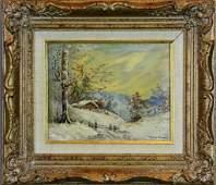 255 George Gardner Symons Oil Painting On Board