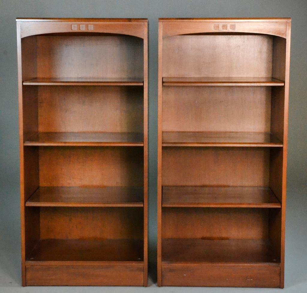 11: (2) Ethan Allen Arts & Crafts Bookcases