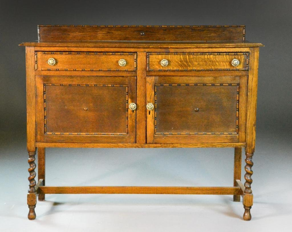 17: Antique Oak Sideboard