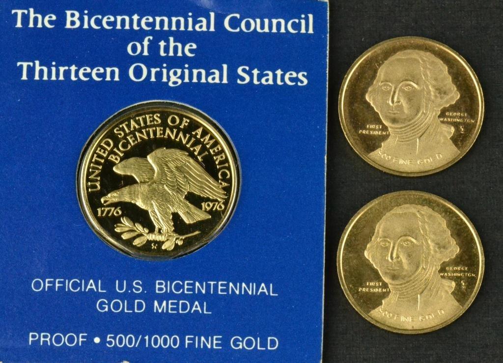 64: (3) Gold Coins - Franklin Mint Bicentennial