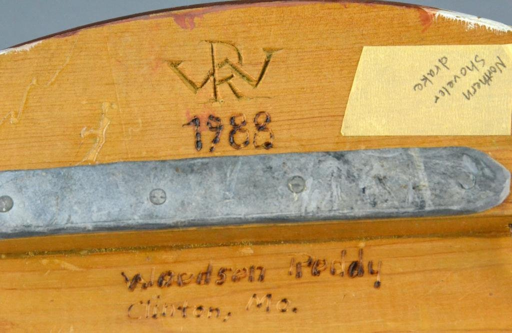 190: (2) Woodson Roddy Duck Decoys - Signed - 5