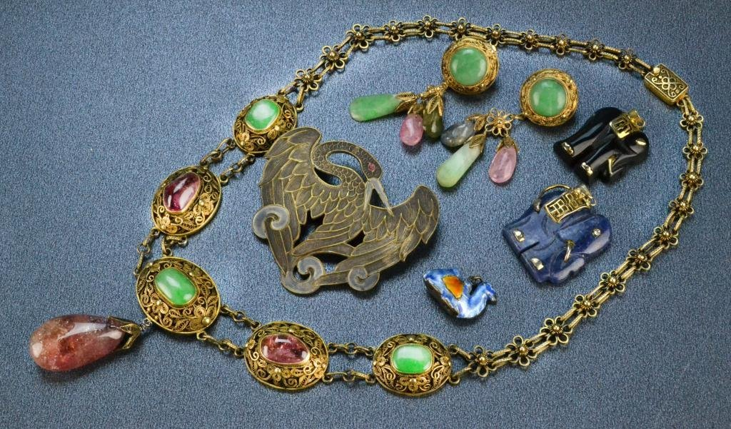 568: (7) Chinese and East Indian Jewelry & Charms
