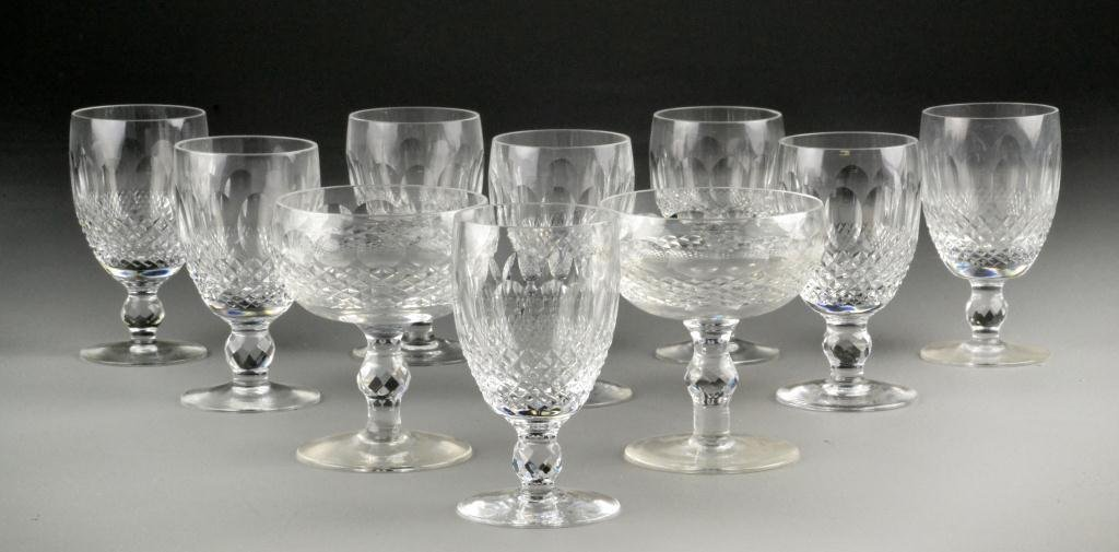 641: (10) Waterford Wine & Champagne Glasses