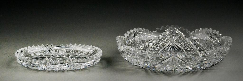 646: (2) Brilliant Cut Lead Crystal Dishes