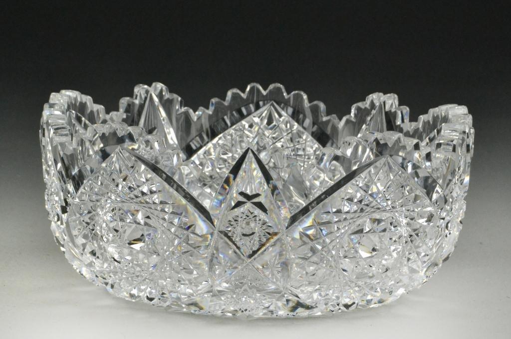 647: Brilliant Cut Lead Crystal Dish