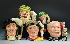 870: (5) Royal Doulton Character Mugs