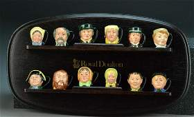 1017: (12) Royal Doulton Tinies - Character Mugs with S