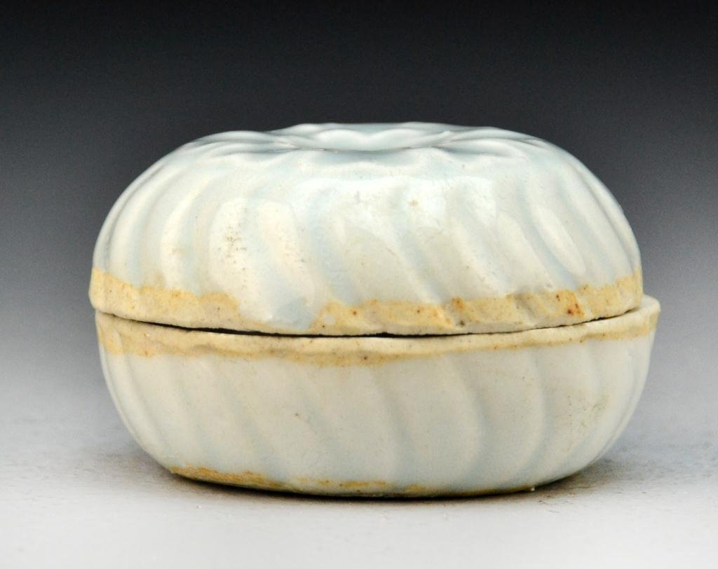 3: Chinese Celedon Porcelain Powder Box
