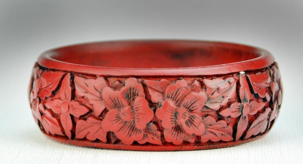 11: Chinese Cinnabar Bangle Bracelet
