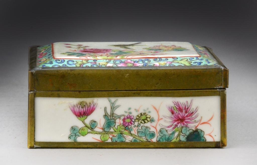 24: Chinese Republic Famille Rose Porcelain Box