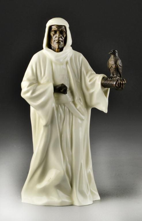 1: Minton Porcelain & Bronze Sheikh with Falcon
