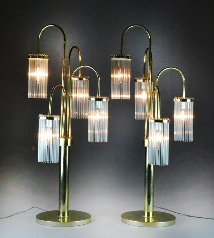 2: Pr. Gaetano Sciolari Mid Century Waterfall Lamps