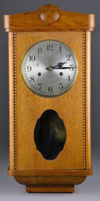 20: Antique Wurttemberg Oak Box-Case Wall Clock