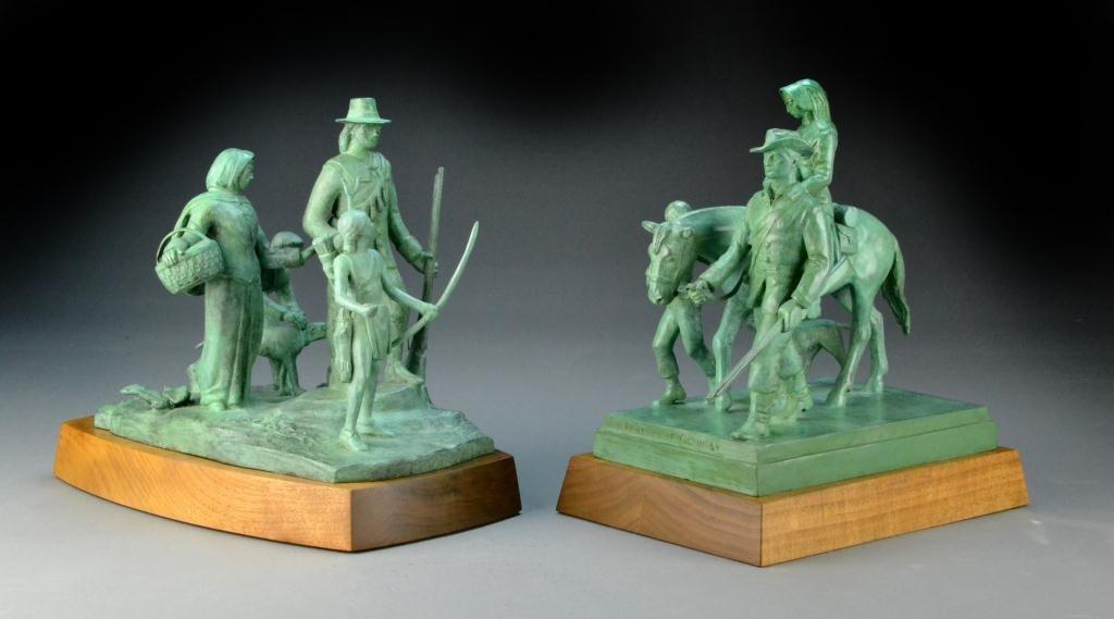 106: Important Pair Of Paul Manship Bronze Statues