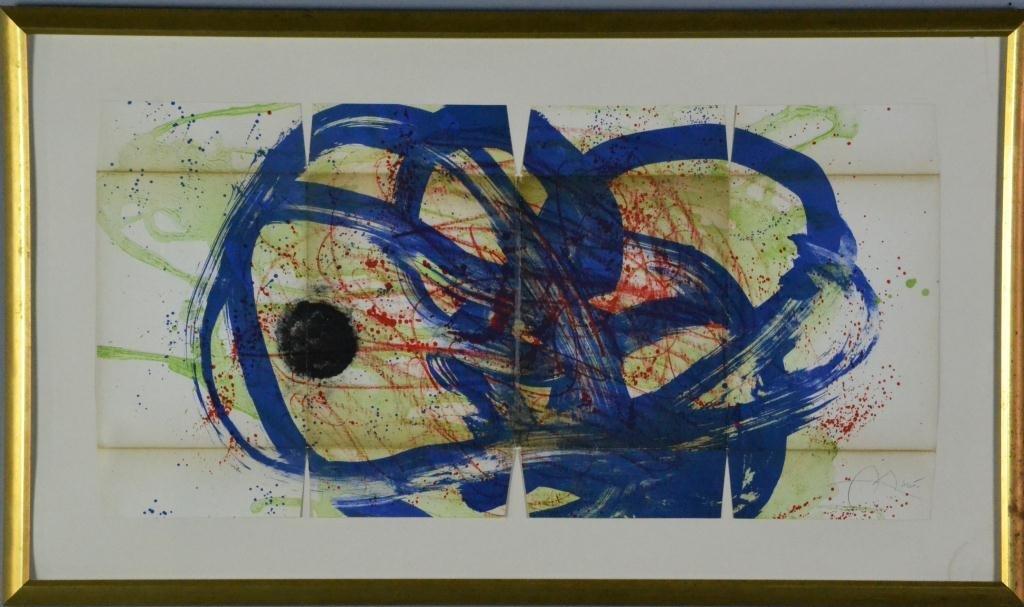 124: Joan Miro Hand Colored Lithograph
