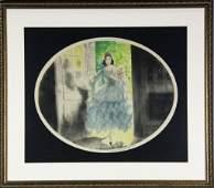 160: 1929 Louis Icart Color Copper Plate Engraving
