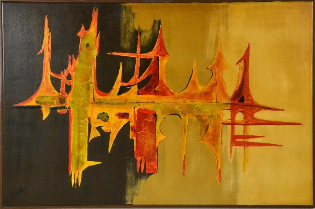 673: Carlo of Hollywood Abstract Painting On Canvas