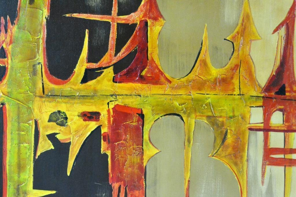 673: Carlo of Hollywood Abstract Painting On Canvas - 2