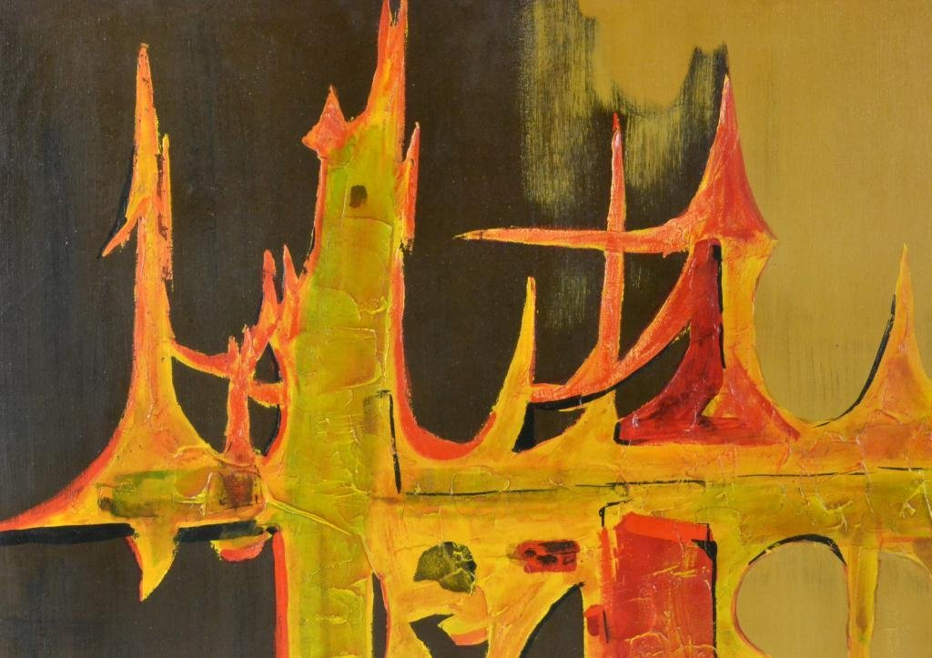 673: Carlo of Hollywood Abstract Painting On Canvas - 3