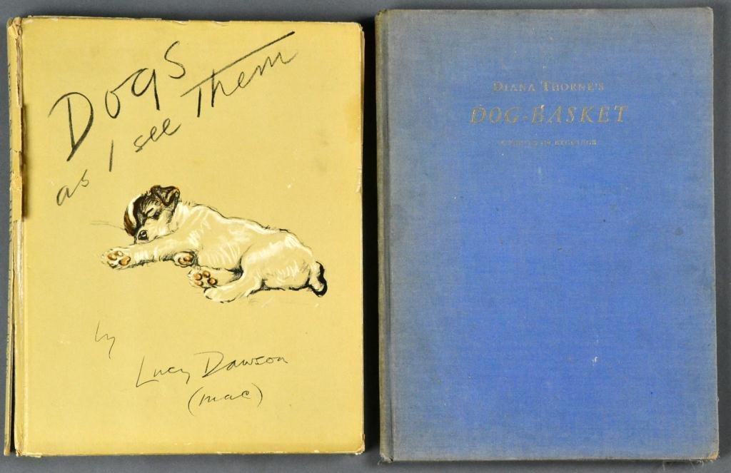 (2) 1930's Illustrated Dog Books