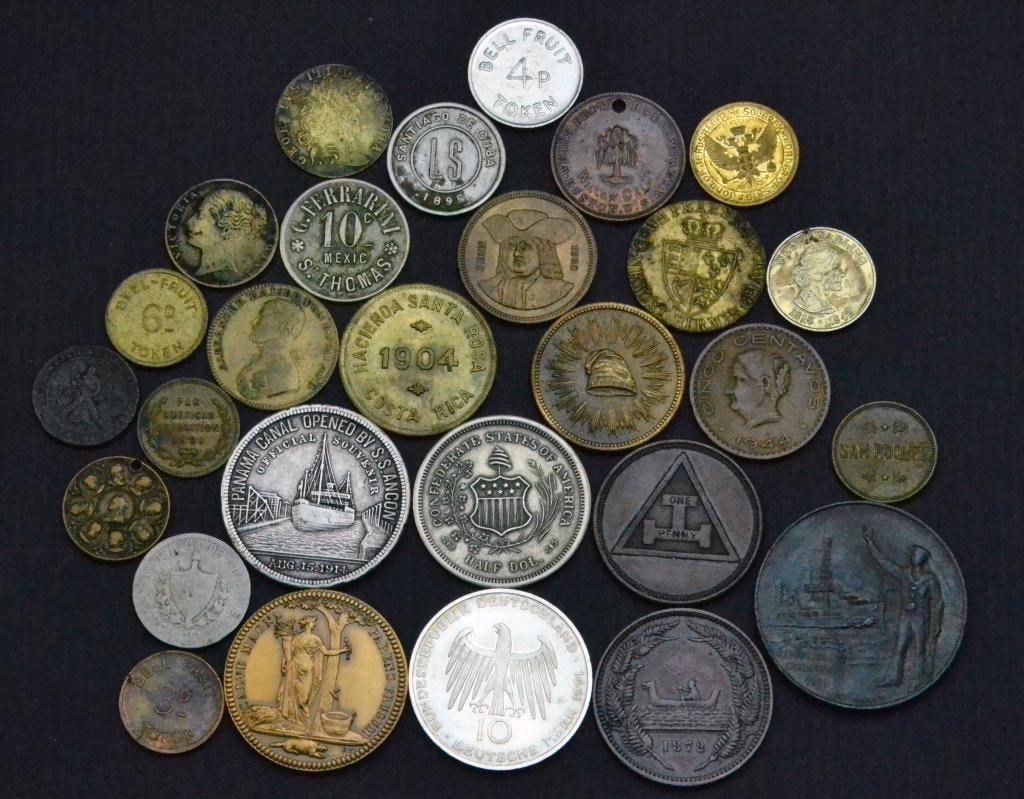 (28) Various U.S. & Foreign Coins Tokens Etc.