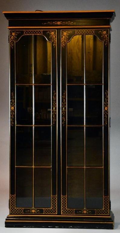 Ethan Allen Painted Two-Door Display Cabinet