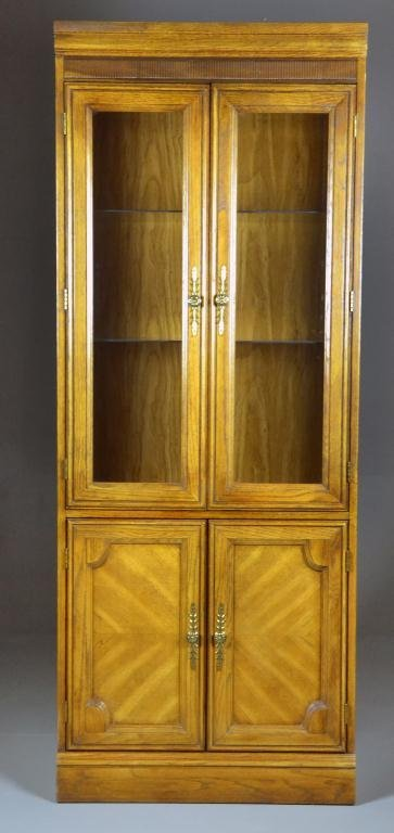 Oak Glass Curio Cabinet