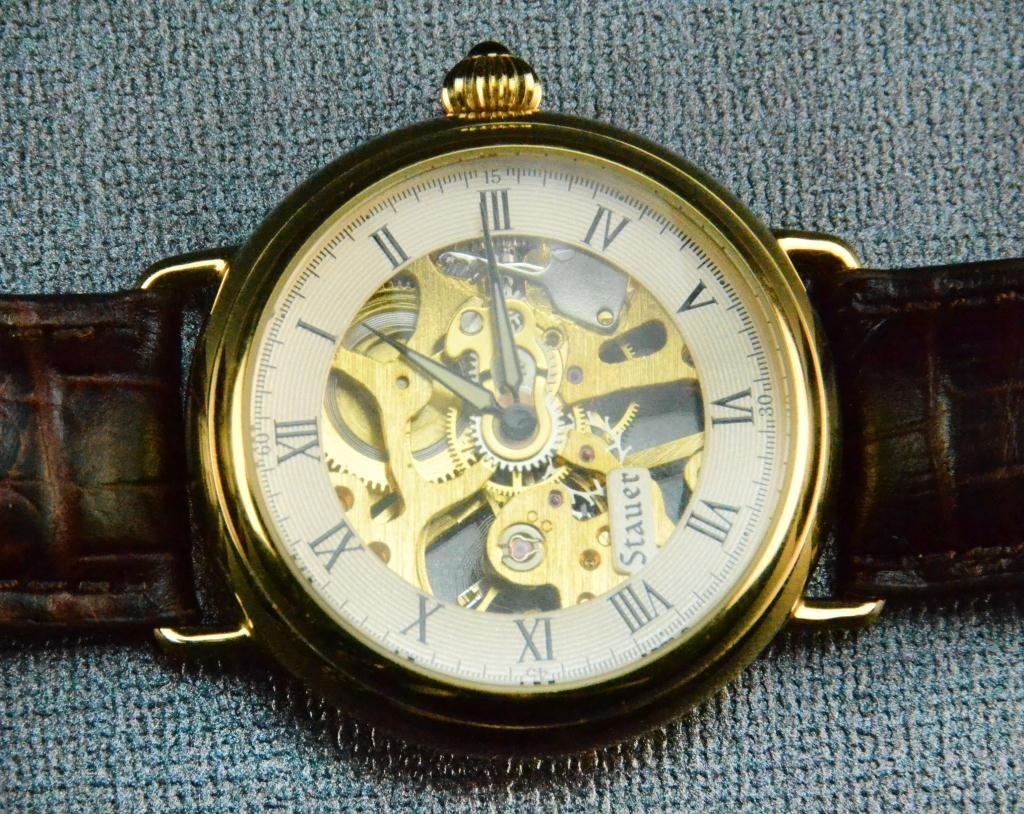 Stauer Mens Skeleton Watch with Box and Papers - 3