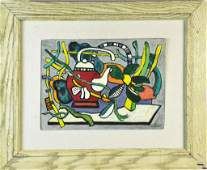 Bears Signature Leger Oil Painting on Canvas