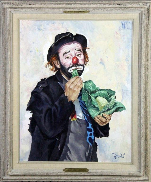 Elmo Alfred Brule Jr. Oil Painting On Canvas