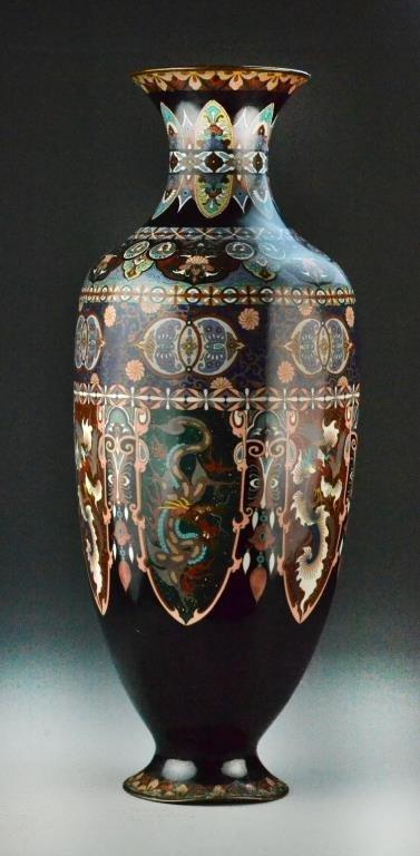 Large Japanese Cloisonné Vase