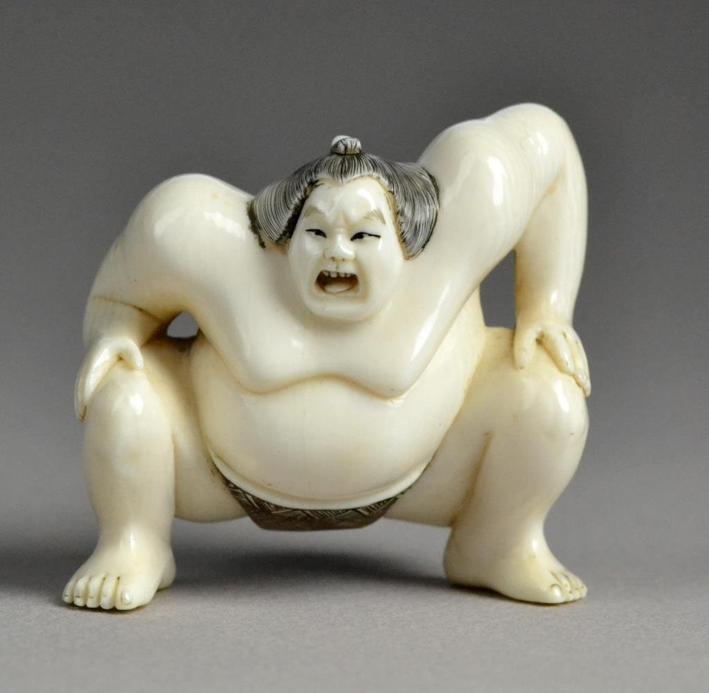 Japanese Carved Ivory Netsuke Possibly Jobun