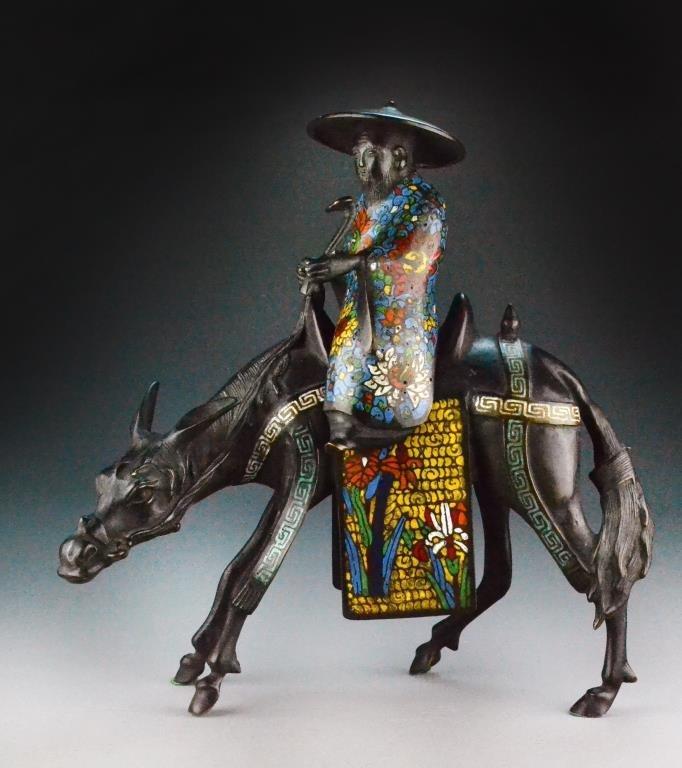 Japanese Bronze Figural Censer