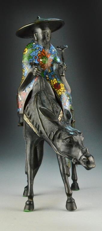 Japanese Bronze Figural Censer - 2
