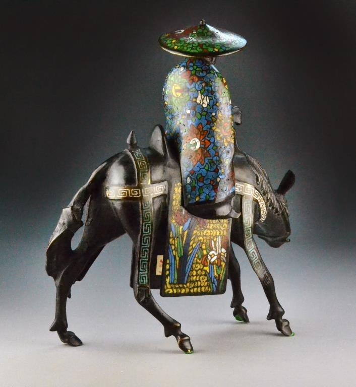 Japanese Bronze Figural Censer - 3