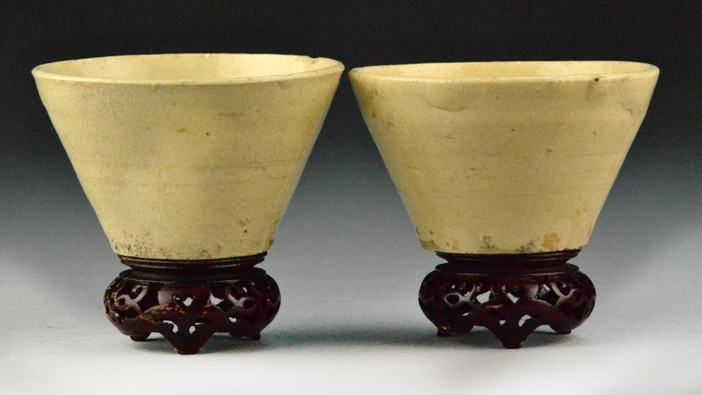 (2) Chinese Yuan Dynasty Bowls