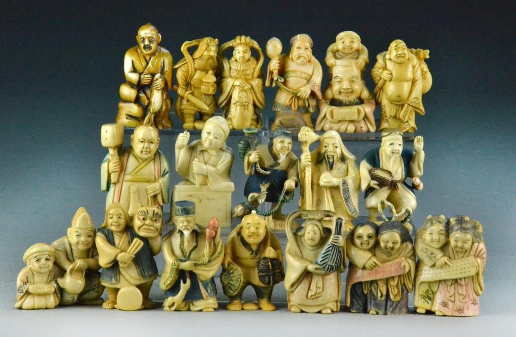 (18) Japanese Ivory Netsuke's