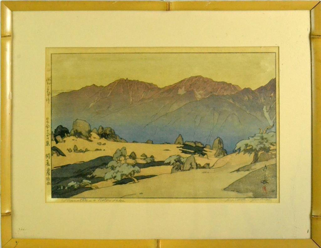 Rare Hiroshi Yoshida Woodblock Print